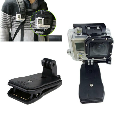 4 Session 360 Rotary Backpack Hat Mounts Clip Fast Clamp Mount for GoPro 2 3