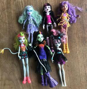 Monster-High-Dolls-Lot-Draculaura-Clawdeen-Lagoonafire-Twyla-Rochelle-Casta