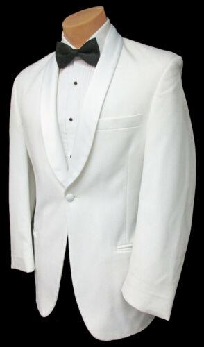 Men/'s White Tuxedo Dinner Jacket Satin Shawl Lapel Wedding Prom Cruise Mason 38R