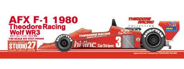 Studio27 trk008 20 theodore racing wolf wr3 afx f - 1 - 1980 modell - auto