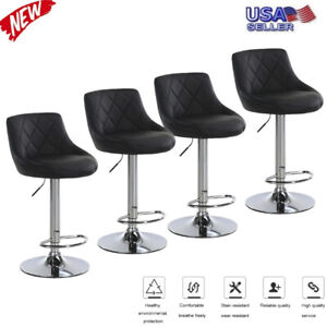 Set-of-4-Counter-Height-PU-Leather-Bar-Stools-Adjustable-Swivel-Pub-Dining-Chair