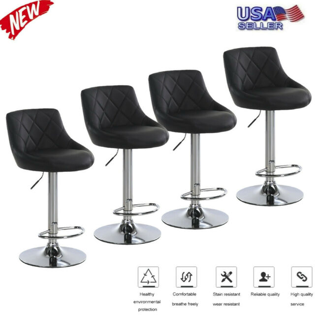 Amazing Set Of 4 Counter Height Pu Leather Bar Stools Adjustable Swivel Pub Dining Chair Forskolin Free Trial Chair Design Images Forskolin Free Trialorg