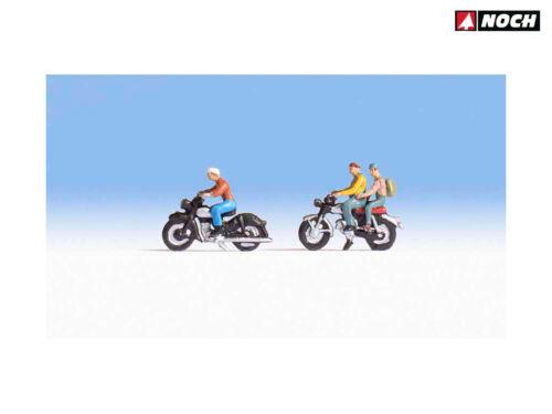 ++ NEU /& OVP 3 Figuren NOCH 36904 Motorradfahrer Spur N