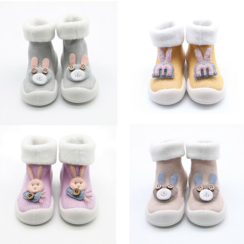 Baby Girl Boy Anti-slip Shoes Boots Cartoon Newborn Kids Toddler Slipper Socks