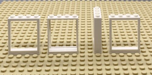 Lego Part 6254518 Window Frame 1x4x4 No Insert White 40527 X4