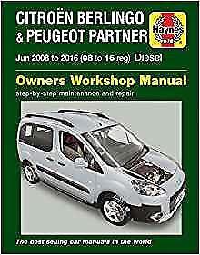 haynes citroen berlingo panel van 08 16 hdi owners service manual rh ebay co uk berlingo b9 service manual citroen berlingo service manual 2010