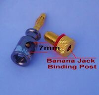 4 Nakamichi Heavy Duty Banana Plug Jack Audio Adapter Binding Post N0505a Usa
