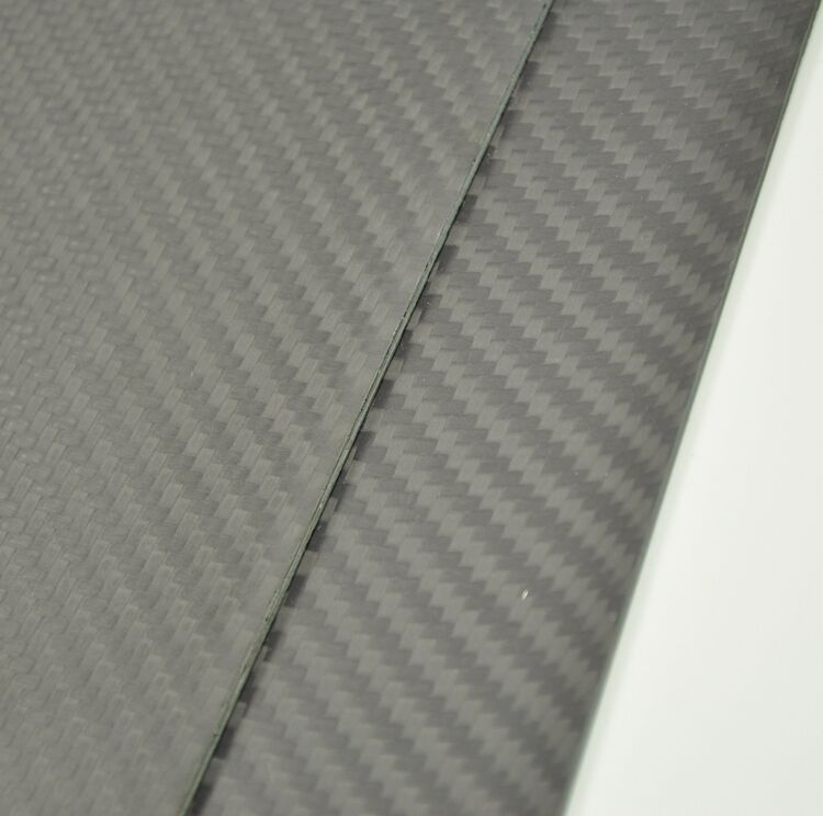 400mmX500mmX2mm 100% Carbon Fiber plate panel sheet Matte Surface ZY  01