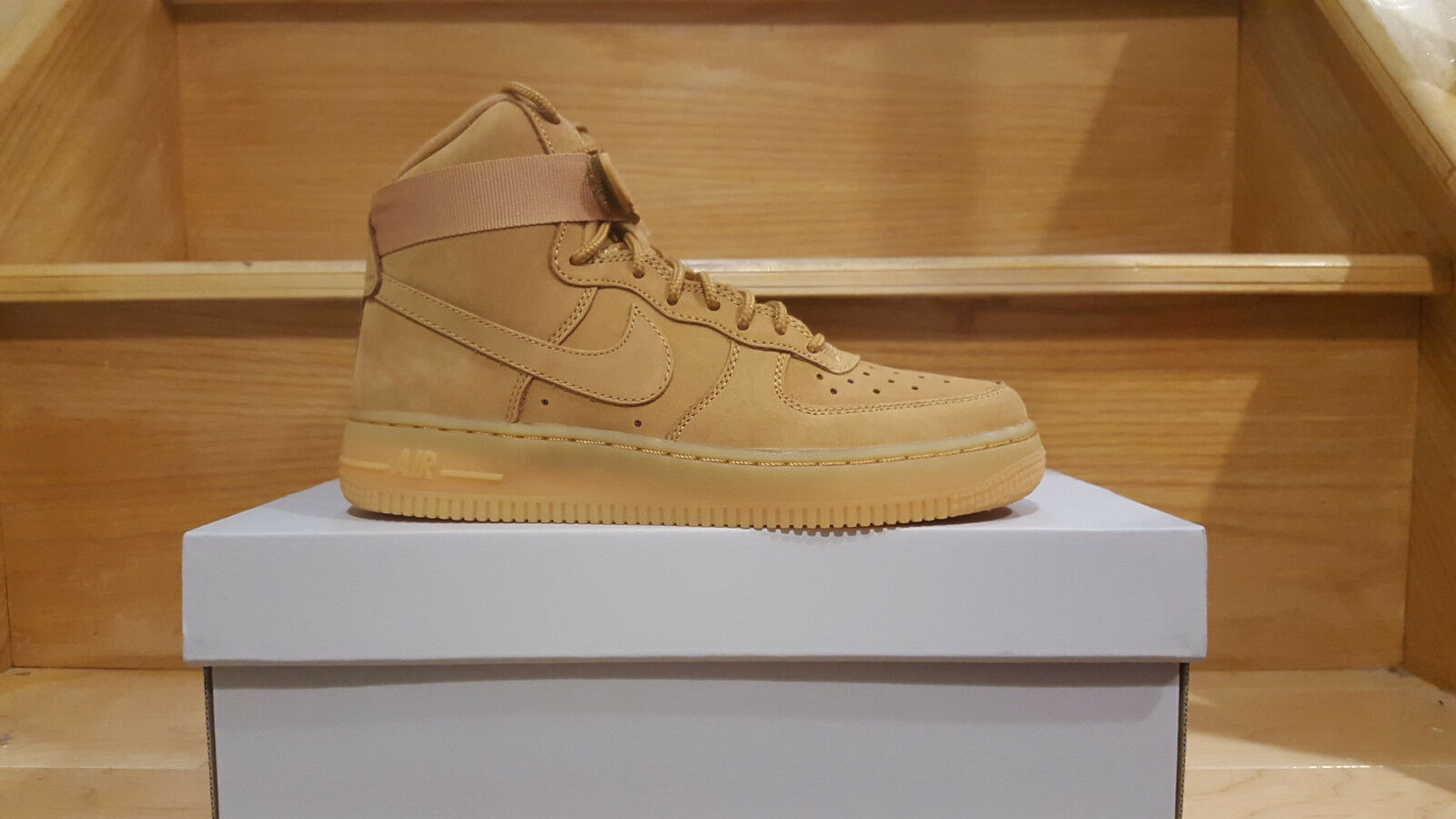 wholesale dealer 9b2c3 8a0e2 high-quality Nike Air Force 1 High  07 LV8 Flax Wheat Collection 806403 200