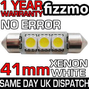 41mm-3-SMD-LED-264-C5W-CANBUS-NO-ERROR-FREE-WHITE-INTERIOR-LIGHT-FESTOON-BULB