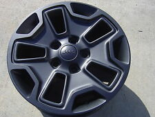 "5 WHEELS 17"" JEEP WRANGLER RUBICON JK SAHARA CHEROKEE BLACK POWDERCOAT 2016 9118"