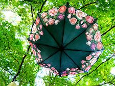 "Rose Bouquet Flower Folding Compact Auto Open Umbrella 42"""
