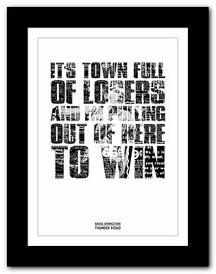 ❤ BRUCE SPRINGSTEEN - Thunder Road ❤ song lyric poster art print - 4 sizes #2