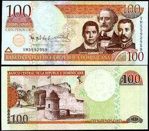 DOMINICAN-REPUBLIC-100-PESOS-ORO-2010-P-177-UNC