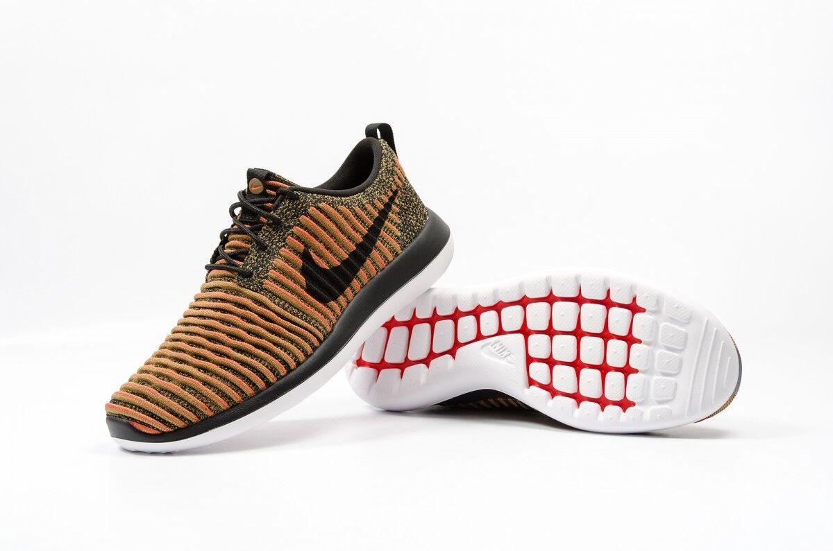 Nike roshe zwei flyknit schwarz - 8 weiß max orange männer sz - 8 - - 13. 8c146d