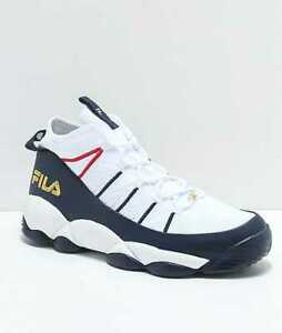 Details about NEW MEN'S 7.5 9 10 11 FILA SPAGHETTI KNIT WHITE NAVY SHOES  BASKETBALL SNEAKERS