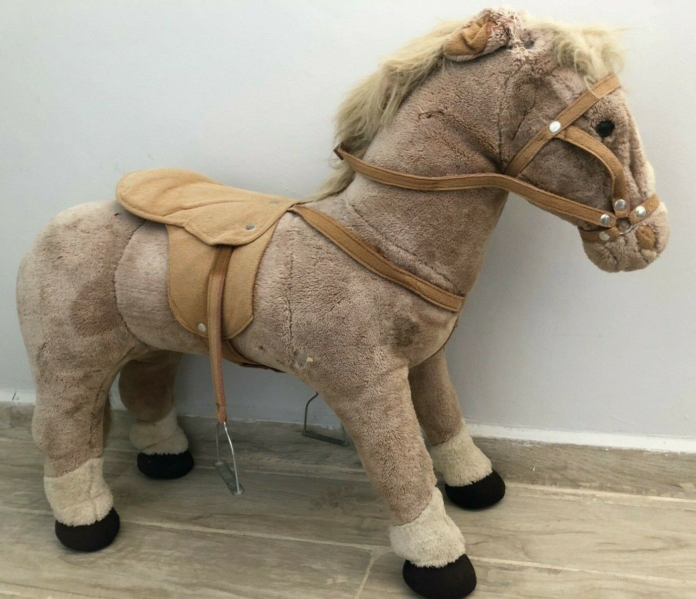 Bob Der Bär Kuschelweich Large Play Horse Sit on on Pony Great Gift RARE  GLOBAL