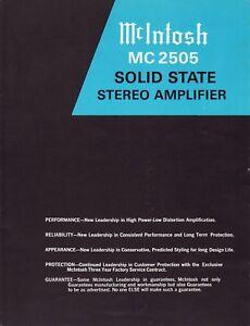mcintosh mc2505 service manual