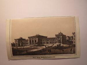 Hanovre-la Nouvelle Gare Bâtiment/image Environ 1870/80er Ans-e / Bild Ca. 1870/80er Jahre Fr-fr Afficher Le Titre D'origine