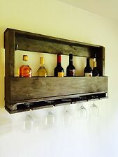 Beautiful Reclaimed pallet wood wine rack hand crafted from reclaimed wood with