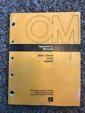 John Deere Model 444e Articulated Wheel Loader Owner Operator Manual Om At139654