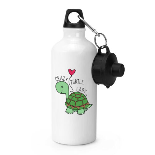 Bouteille d'eau de boissons pour sportifs Crazy Turtle Lady drôle de tortue