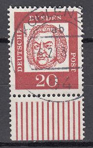 BRD 1961 Mi. Nr. 352 Fl. Papier mit Unterrand gestempelt (18592)