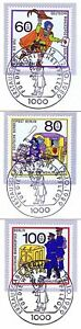 Berlin 1989: Transport De Courrier! Providence Nº 852-854! Ersttags Cachet! 1a 1609-g! Wohlfahrt Nr. 852-854! Ersttagsstempel! 1a 1609fr-fr Afficher Le Titre D'origine RéTréCissable