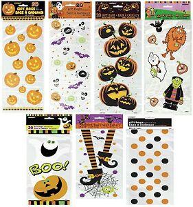 20-Halloween-Party-Loot-Cello-Gift-Sweet-Cellophane-Bag-Pumpkin-Spooky-Treat-Fun