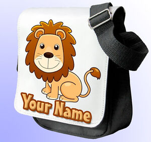 f0170a2ad LION PERSONALISED GIRL'S SHOULDER/ HAND BAG *Choice of 2 colours ...