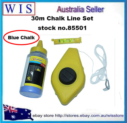 "3//PK Chalk Line Reel /& Refills,Chalk Line Reel /& Blue Chalk Box /& 3/"" Line Level"