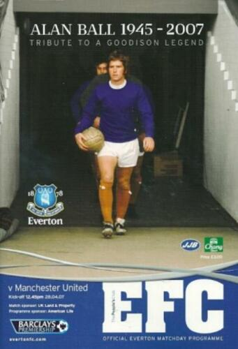 200607 EVERTON v MAN UTD ALAN BALL TRIBUTE EDITION