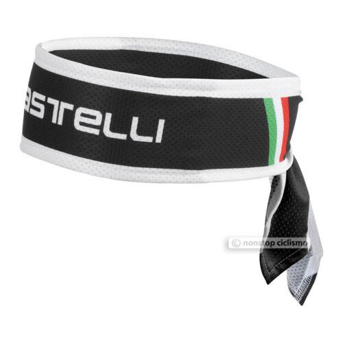 Noir Taille Unique Castelli Bandeau sueur Mèche Cyclisme coiffure