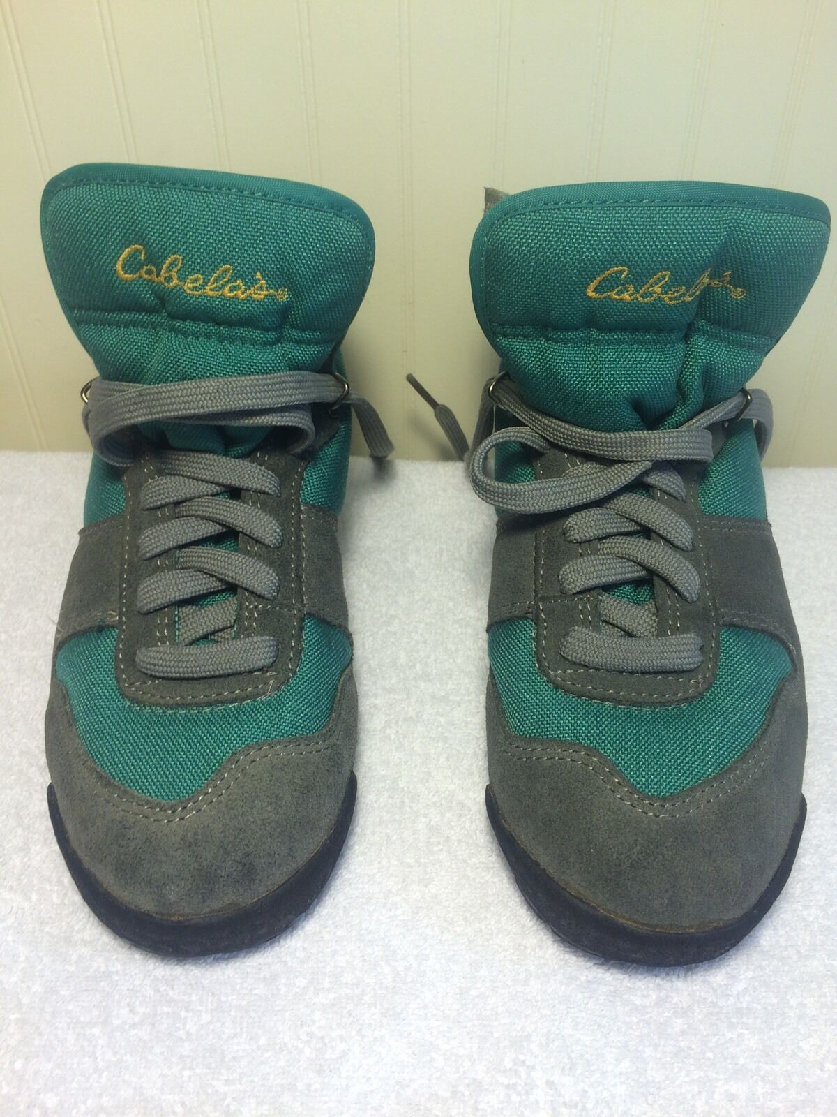 Womens Cabela's Boots US 7 Green 80904 Gray Mid Hiking Shoes 80904 Green d3c3d5