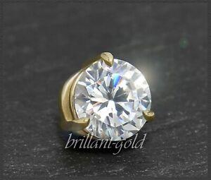 Diamant-585-Gold-Brillant-Anhaenger-mit-0-73-ct-River-E-Lupenrein-Gleiter-NEU