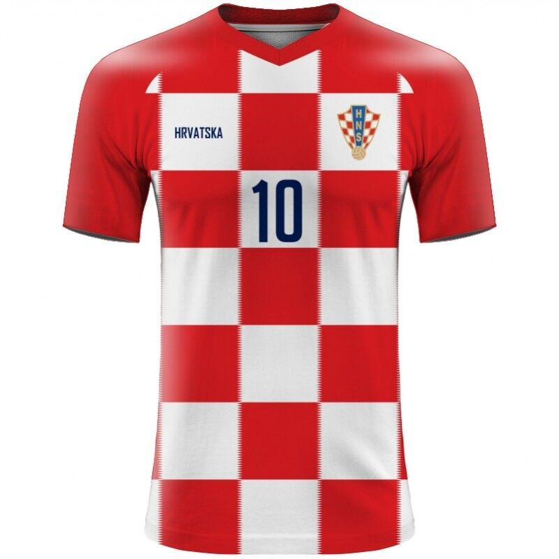WORLD CUP 2018 Croatia Hrvatska Football Fan Jersey MODRIC MANDZUKIC ... 521a65359