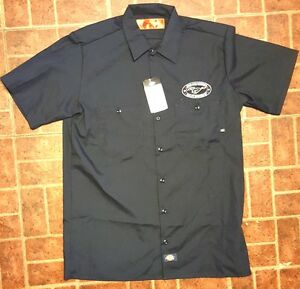 New custom dickies black embroidered ford mustang gt logo for Mechanic shirts with logo