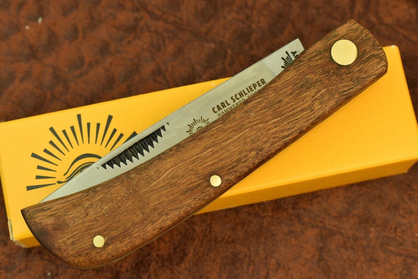 GERMAN EYE BRAND CARL SCHLIEPER WOOD SODBUSTER KNIFE 99JR SOLINGEN GERMANY (9547