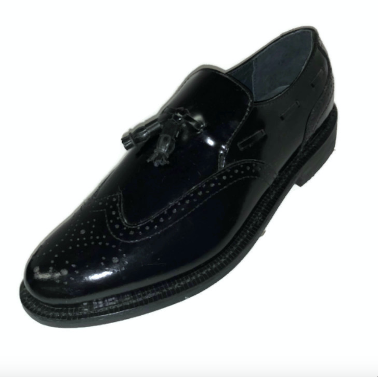 Executive Imperials 370 Tassel Wingtip Leather Black Oxford shoes Mens Sz 12 D