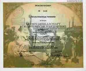 AG für historische Wertpapiere alter Zwischenschein Wolfenbüttel 1994 Benecke
