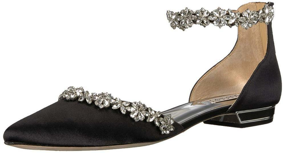 Badgley Mischka Women's Vivien Ballet Flat Comfort Dress Sandal Summer Beach