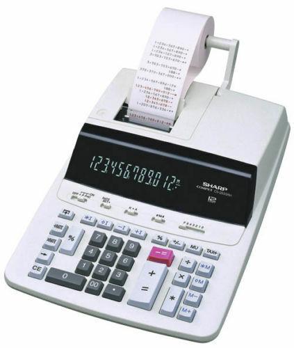 Tischrechner Sharp CS-2635 RHGY Druckender Tischrechner Grau Display 12 Stellen