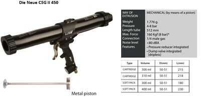 Csg2 450 Druckluftpistole Beutel+kartuschen Silikon Klebstoff Dichtstoffe Fugen Lassen Sie Unsere Waren In Die Welt Gehen