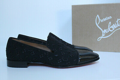low priced 1eef2 42448 sz 7 US / 40 Christian Louboutin Dandelion Flat Black Cap Toe Logo Oxford  Shoes | eBay