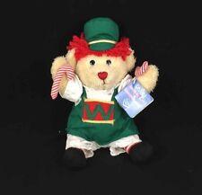 """Dakin Signature Raggedy Ann/Andy Teddy Bear 9"""" Holiday Plush Nutcracker Toy NEW"""