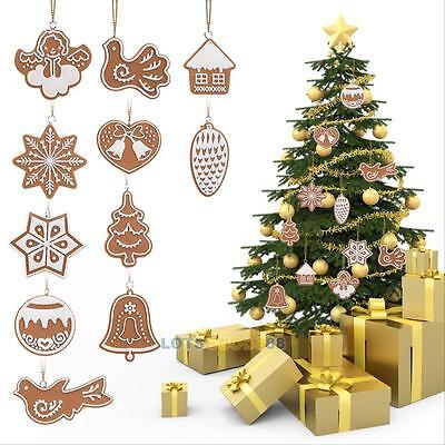 11 ×Xmas Drop Pendant Ornaments Festival Party Christmas Tree Hanging Decoration