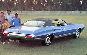 1972 ford gran torino 4-door hardtop advertising postcard | ebay