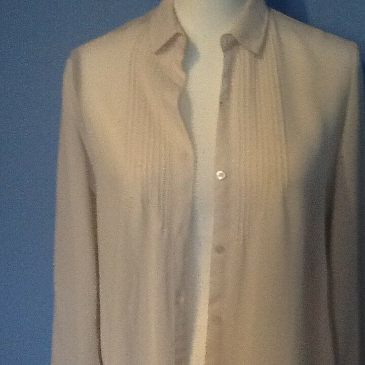 NOS damen Lanvin Cream Größe 6 Long Sleeve Blouse