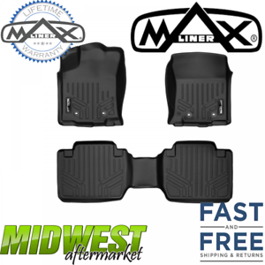 Extended Cab MaxLiner All Weather Floor Mats Fits 2018 Toyota Tacoma Access
