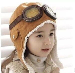 7ac2d732990 Winter Baby Toddler Boy Girl Kids Pilot Aviator Warm Cap Hat Beanie ...
